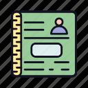 addbook, books, document, e-books, file, notbook, officebook icon