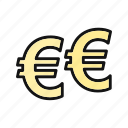 banking, coin, currency, euro, european, exchange, payment icon