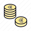 coin, coins, euro, euro-coin, financial, payment, price icon