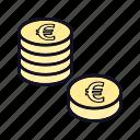 coin, coins, euro, euro-coin, financial, payment, price icon
