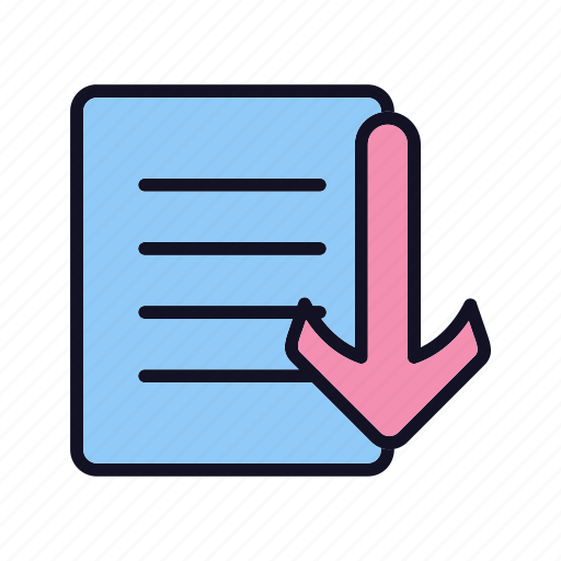 doc, documents, export, export-doc, extension, format, import icon