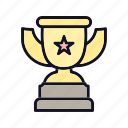 achievement, award, first, medicine, prize, trophy, winner icon
