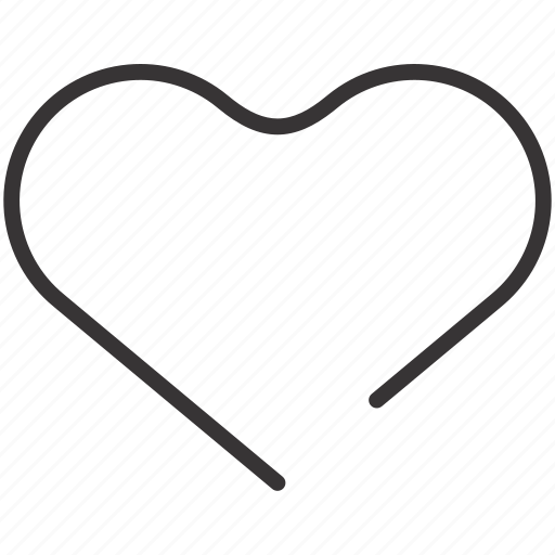 heart, line, love, valentine icon