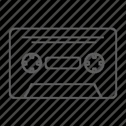 audio tape, cassette, cassette tape, tape icon