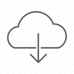 cloud, download, file icon