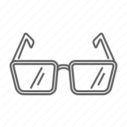 glasses, optic, see, view, vision icon