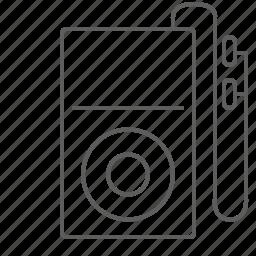 audio, device, ipod, listen, mp3, mp3 player, music, sound icon