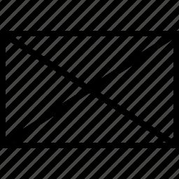 box, envelope, rectangle, software icon