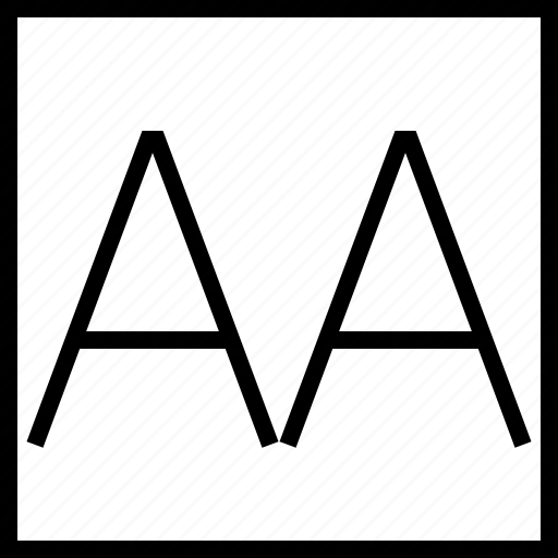 allcaps, font, software, type icon