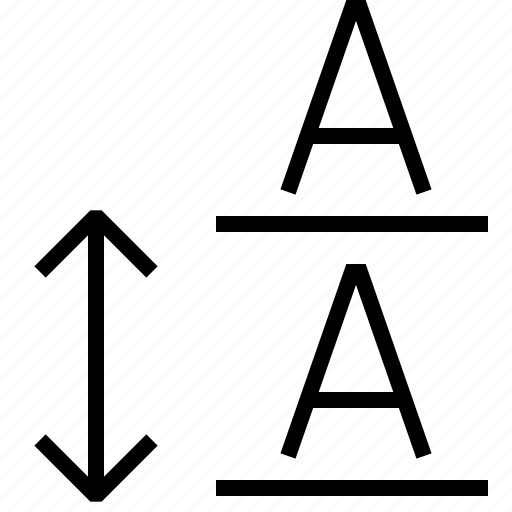 font, leading, type icon