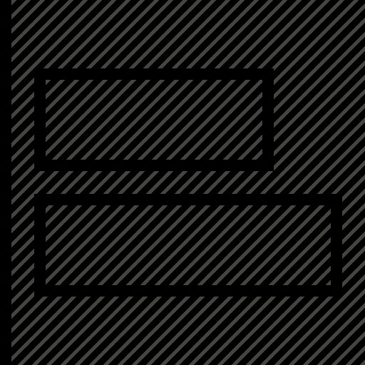 align, horizontal, left, software icon