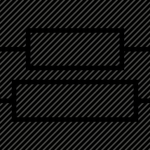 center, distribute, software, vertical icon