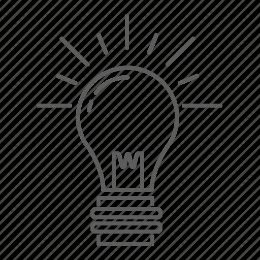 creative, creativity, idea, light, light bulb icon