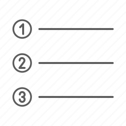 list, number, numbers icon