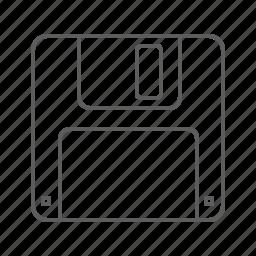 diskette, floppy, floppy disk, guardar, save, save as icon