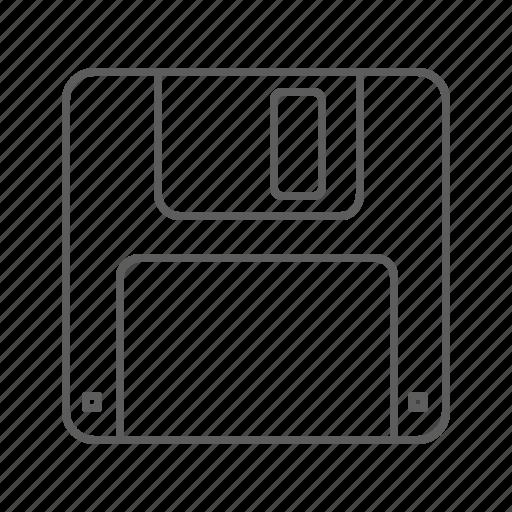 diskette, floppy, floppy disk, save, save as icon