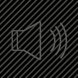 audio, loud, on, sound, volume icon