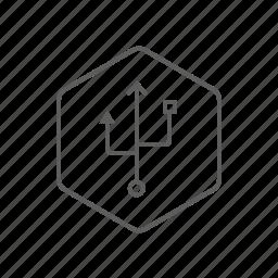 port, usb, usb key, usb port icon