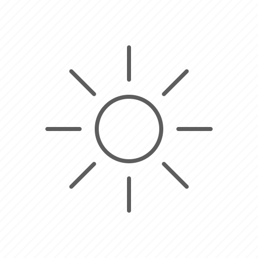brightness, hot, light, sun icon