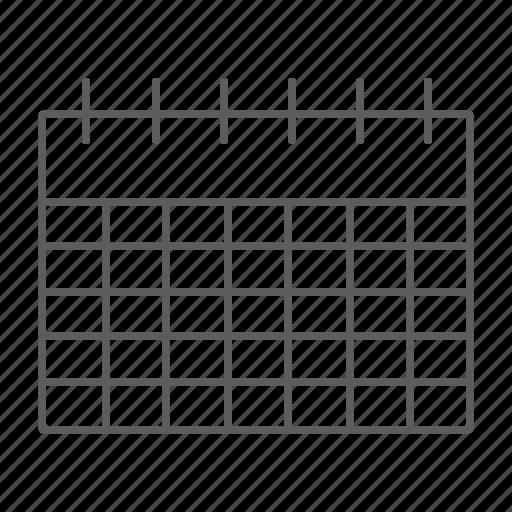 agenda, calendar, planning, schedule icon