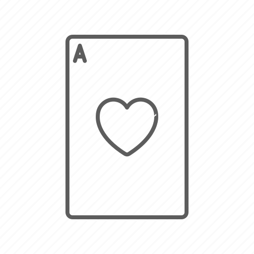 ace, card, heart icon