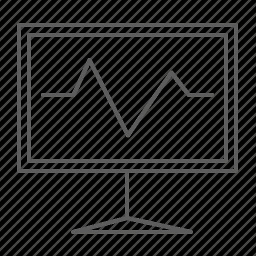board, chart, graph, presentation, results, sales icon