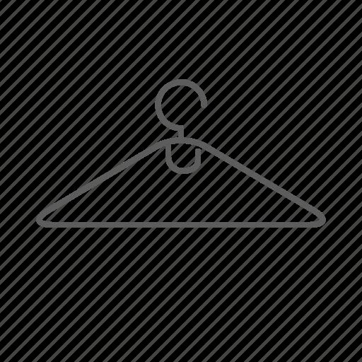 cloth, cloth hanger, hanger icon