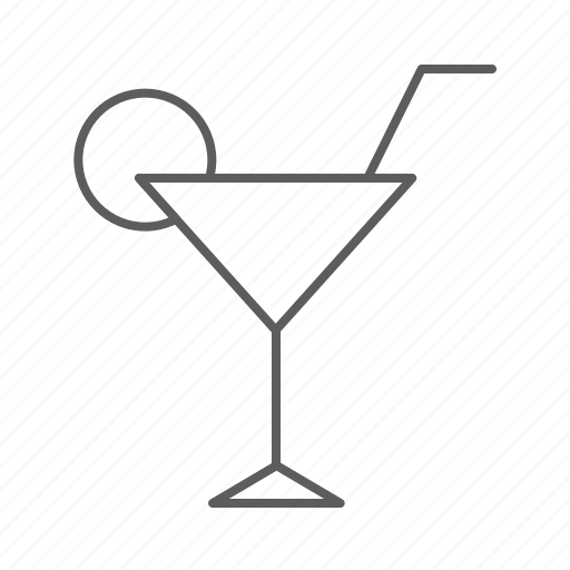 alcohol, cocktail, drink, glass, lemon, party, stick icon