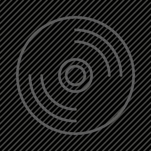 audio, disc, disk, music, record, sound, vinyl icon