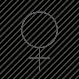 female, girl, woman icon