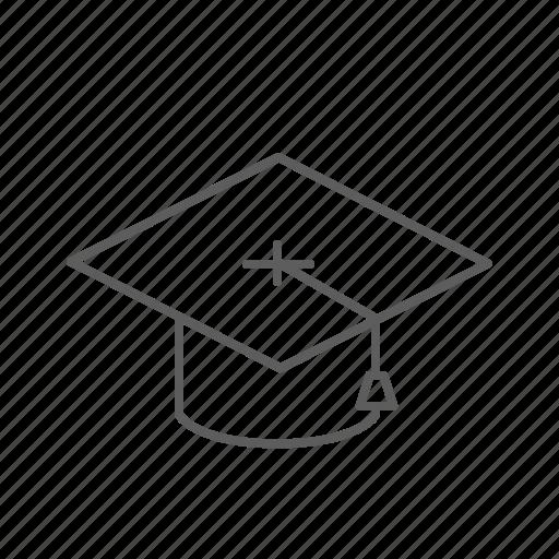 diploma, graduation, graduation hat, hat icon