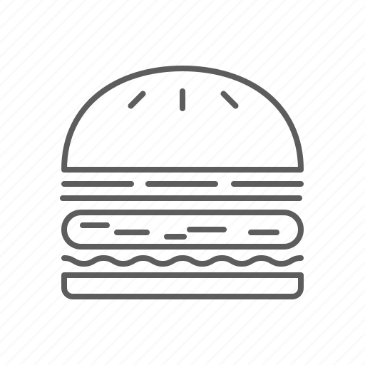 fast food, food, hamburger, junk food, sandwich icon