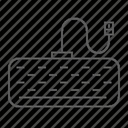 device, keyboard, type, usb, write icon
