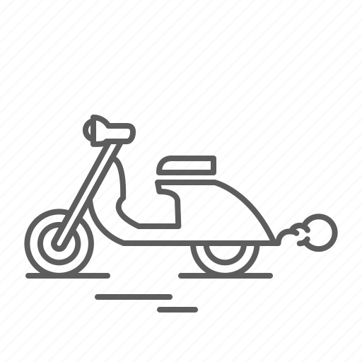 bike, drive, motorbike, motorcycle, ride, scooter, transport, vespa icon