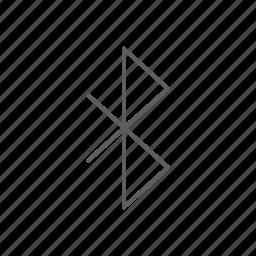 bluetooth, communication, signal icon