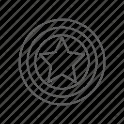avengers, captain america, hero, marvel, protect, protection, shield, star icon