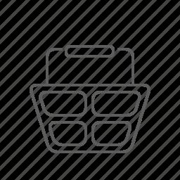 basket, buy, ecommerce, order, purchase, shopping, shopping basket icon