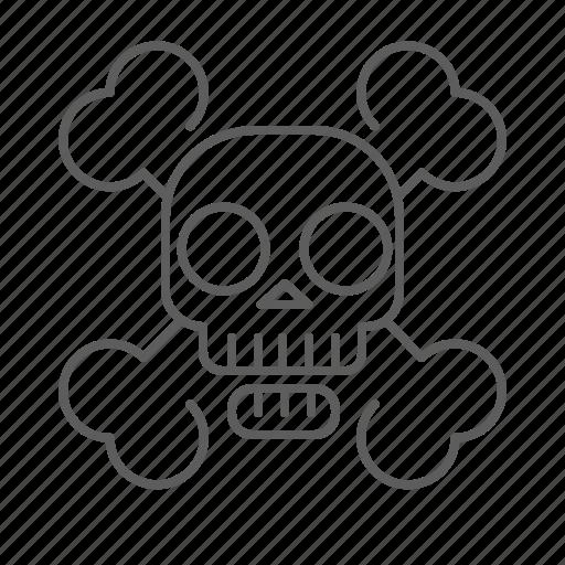 bones, dead, death, pirate, skeleton, skull icon