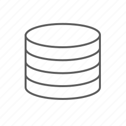 coins, host, hosting, money, space, storage icon
