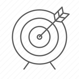 archer, arrow, sport, target icon