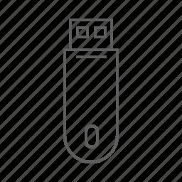 usb, usb key icon