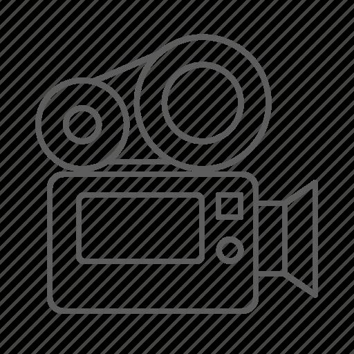 camera, cinema, film, movie, record, shoot, shooting, video, video camera icon