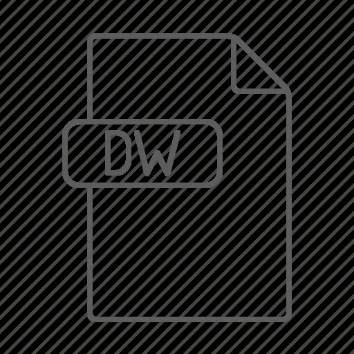 code, development, dreamweaver, dw, file icon