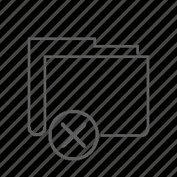 close, delete, deny, document, file, folder, remove icon