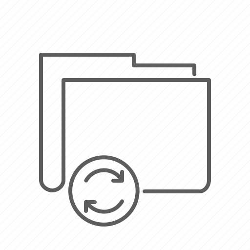 document, file, folder, refresh, update icon