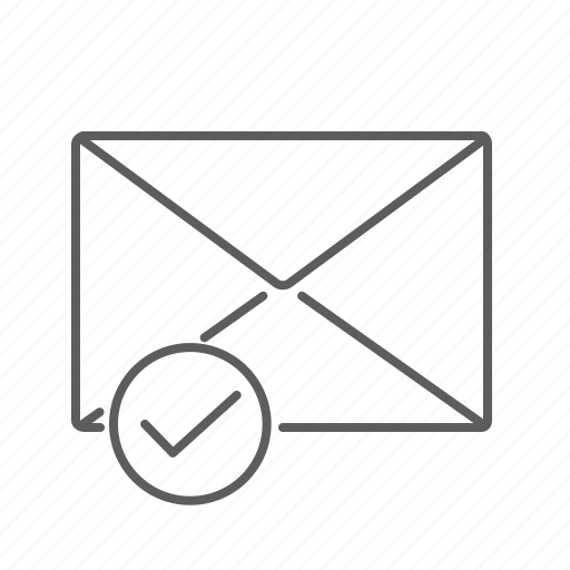 check, check mark, checked, communication, email, envelope, mail, message, read, viewed icon