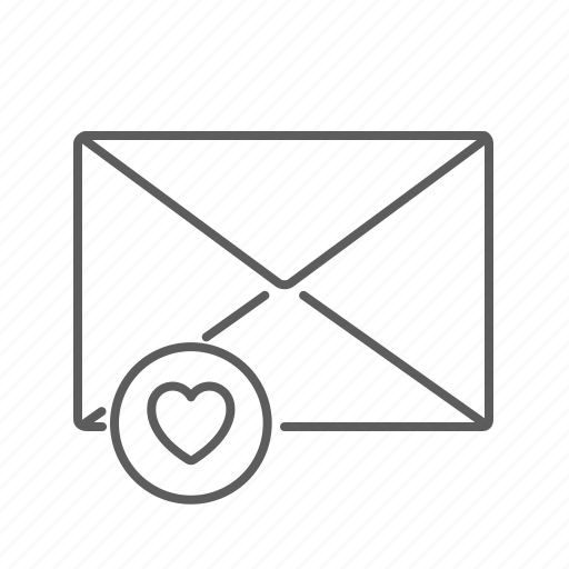communication, email, envelope, favourite, heart, highlight, mail, mailbox, message, saved icon