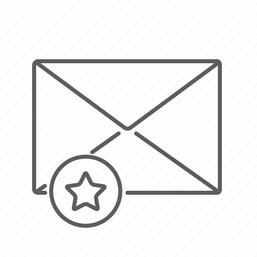 communication, email, envelope, highlight, mail, mailbox, message, premium, star icon