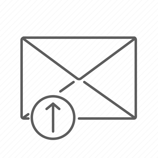 arrow, communication, email, envelope, mail, mailbox, message, send, sending, sent, up icon