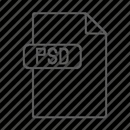 design, file, photoshop, psd icon